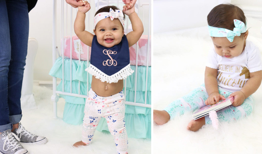 Cute Baby Leggings on Baby Girl