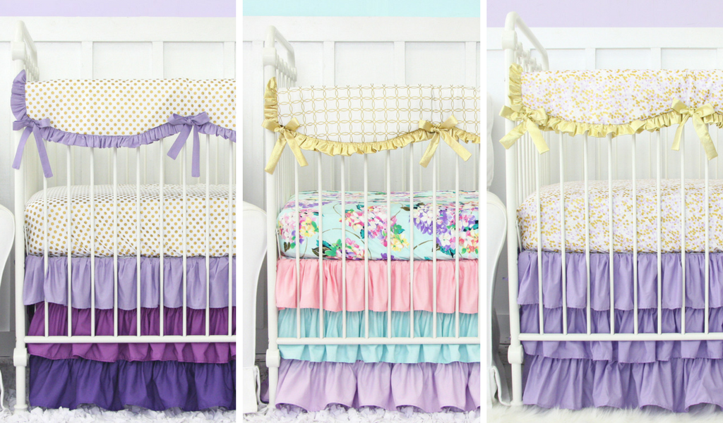 Purple and Gold baby bedding sets for your Purple Nursery