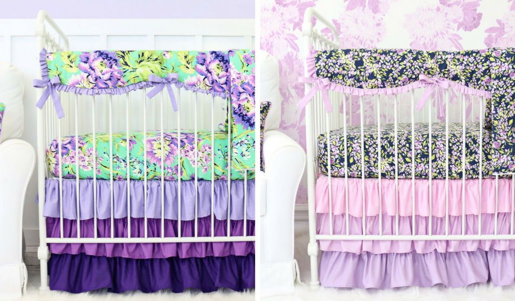Lavender Crib bedding for a Purple Inspired Nursery Design