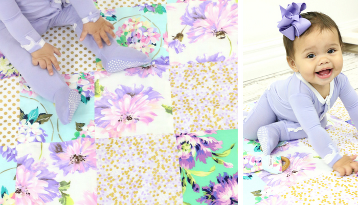 Lily's Lilac Baby Quilt