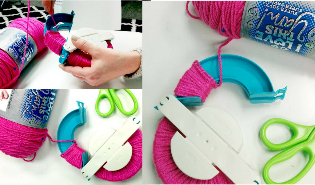 Wrapping the Pompom Maker