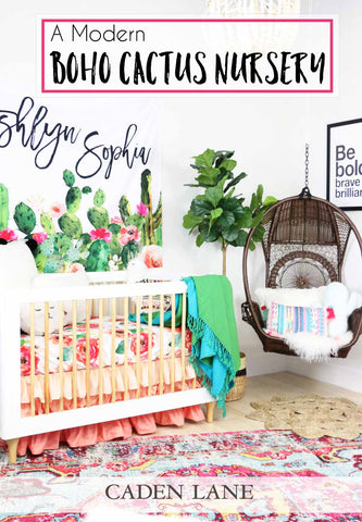 A Modern Boho Cactus Nursery for a Baby Girl