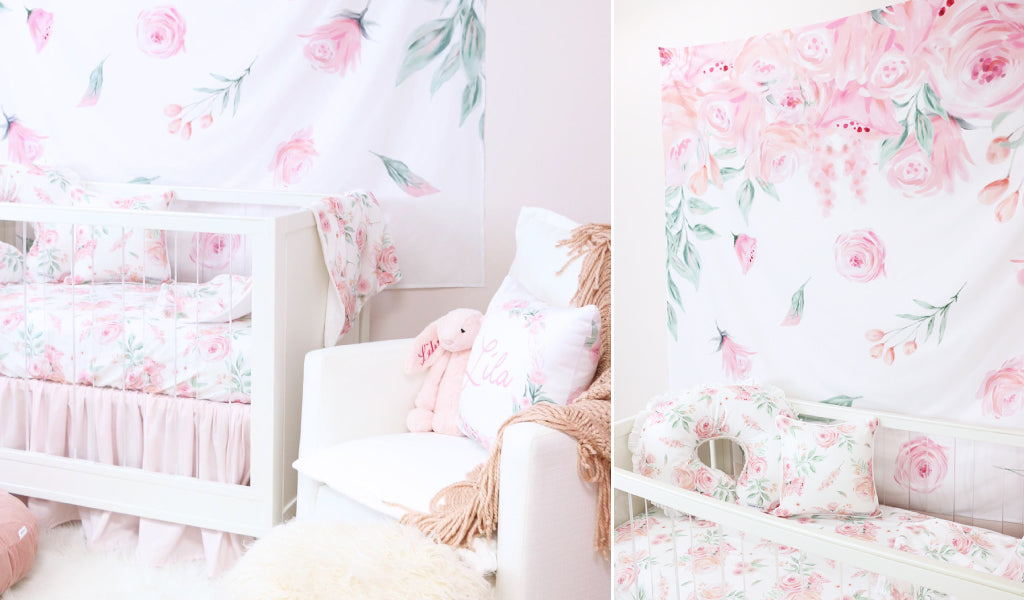 Floral Nursery Wall Tapestry As A Wallpaper Alternative