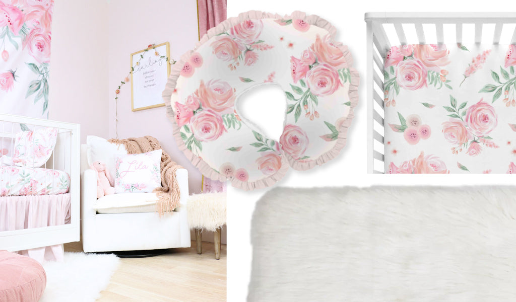 Blush Rose Floral Nursery Accessories
