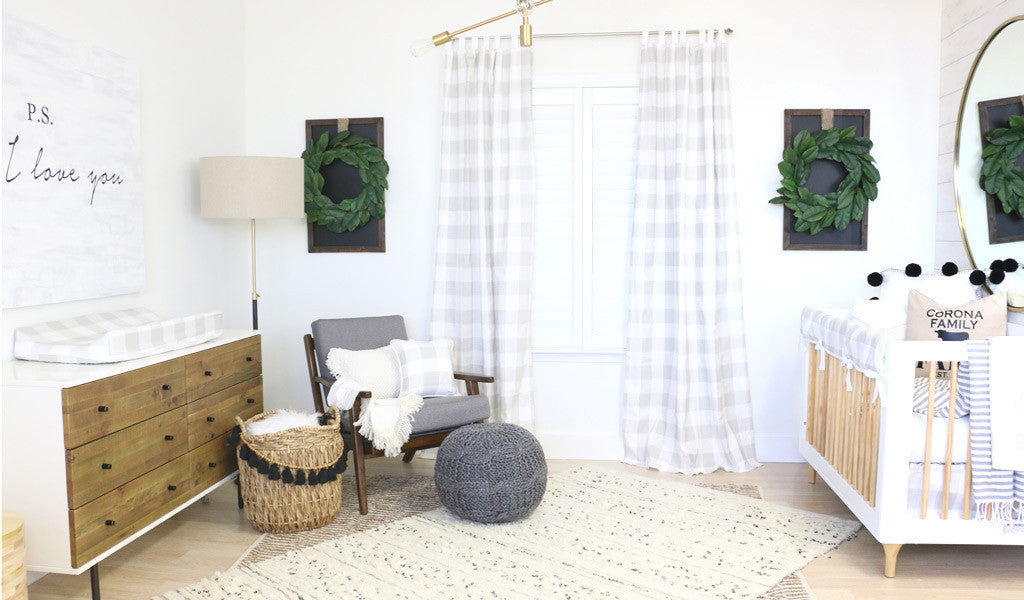Modern Neutral Farmhouse Nursery from Caden Lane