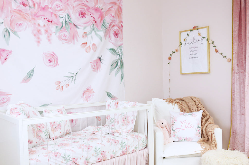 Blush Rose Nursery Design for Baby Girl
