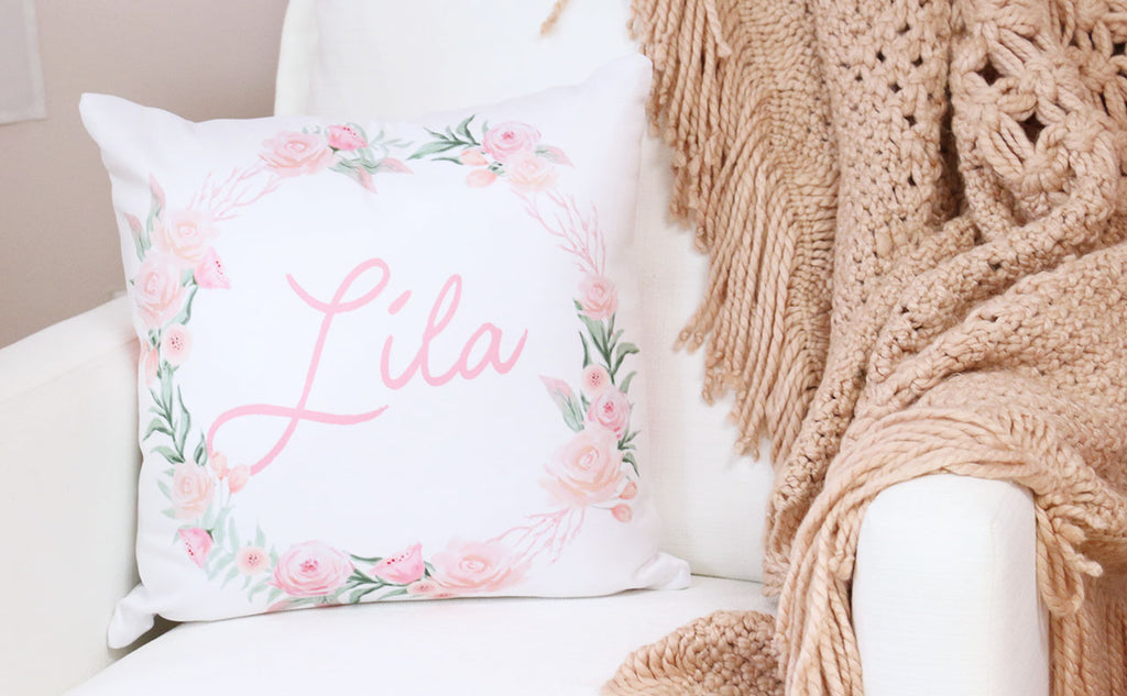 Personalized Pillow in the Nursery