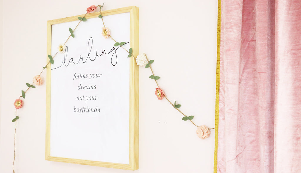 Blush Nursery Wall Decor