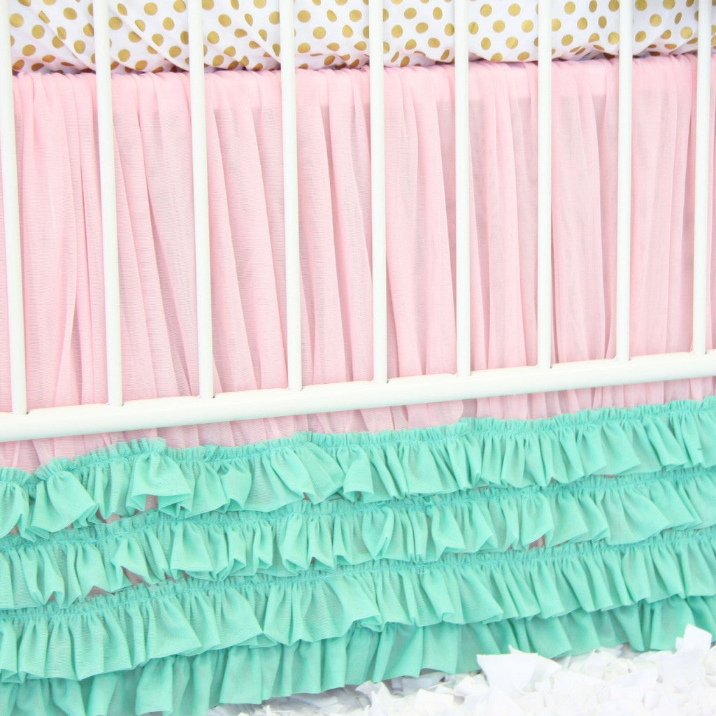Aqua Damask Bedding