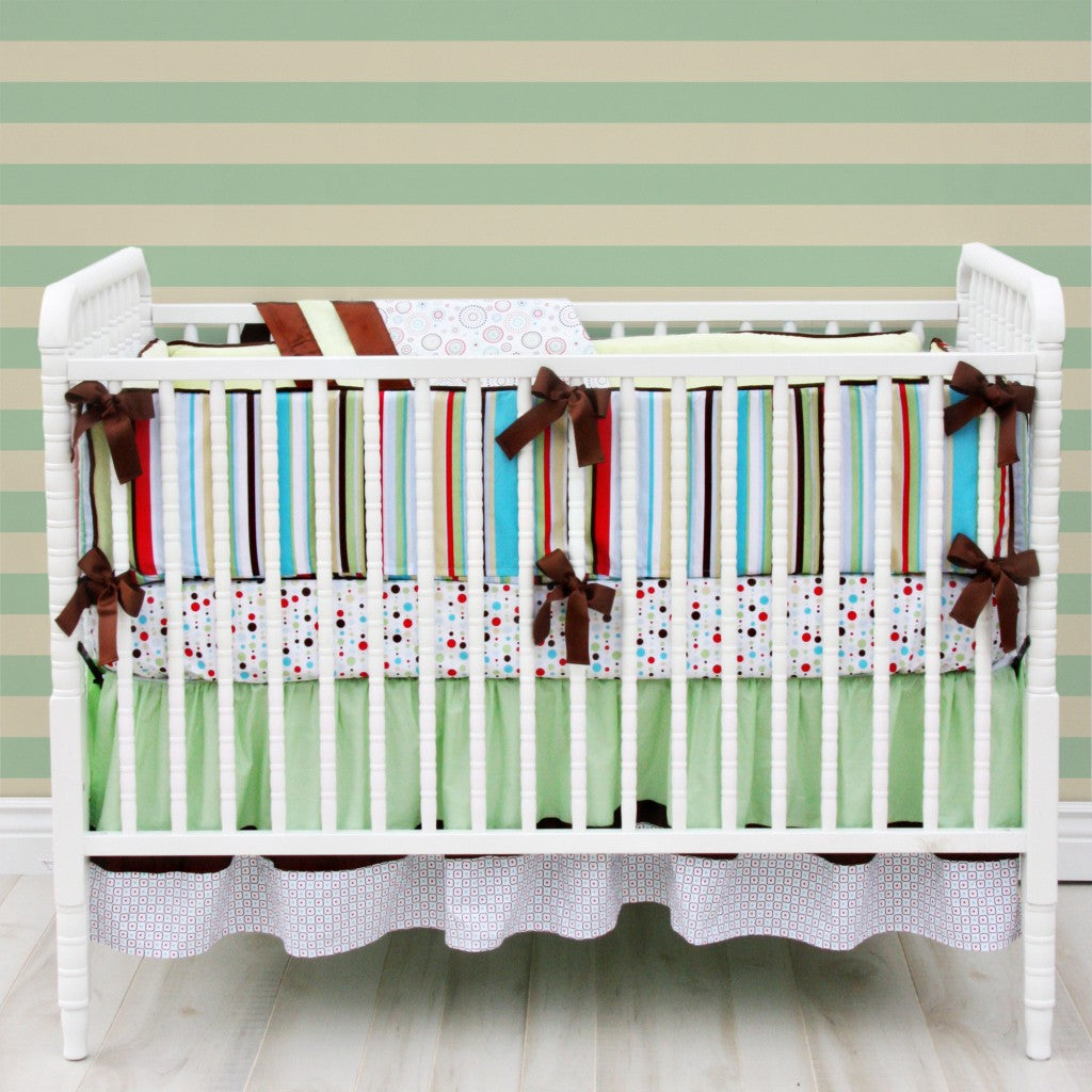 red and brown baby nursery bedding
