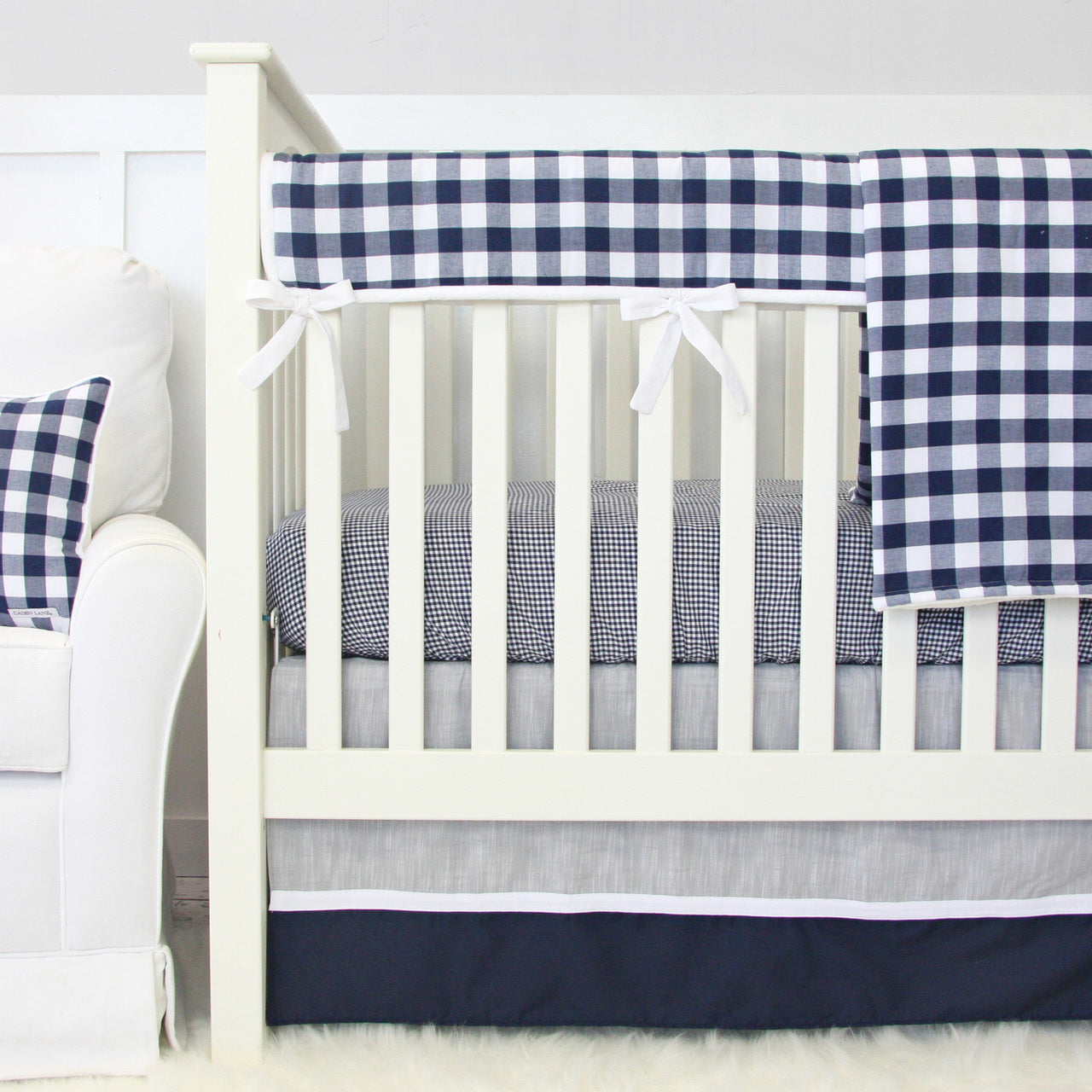 The perfect classic baby boy bedding you can find!