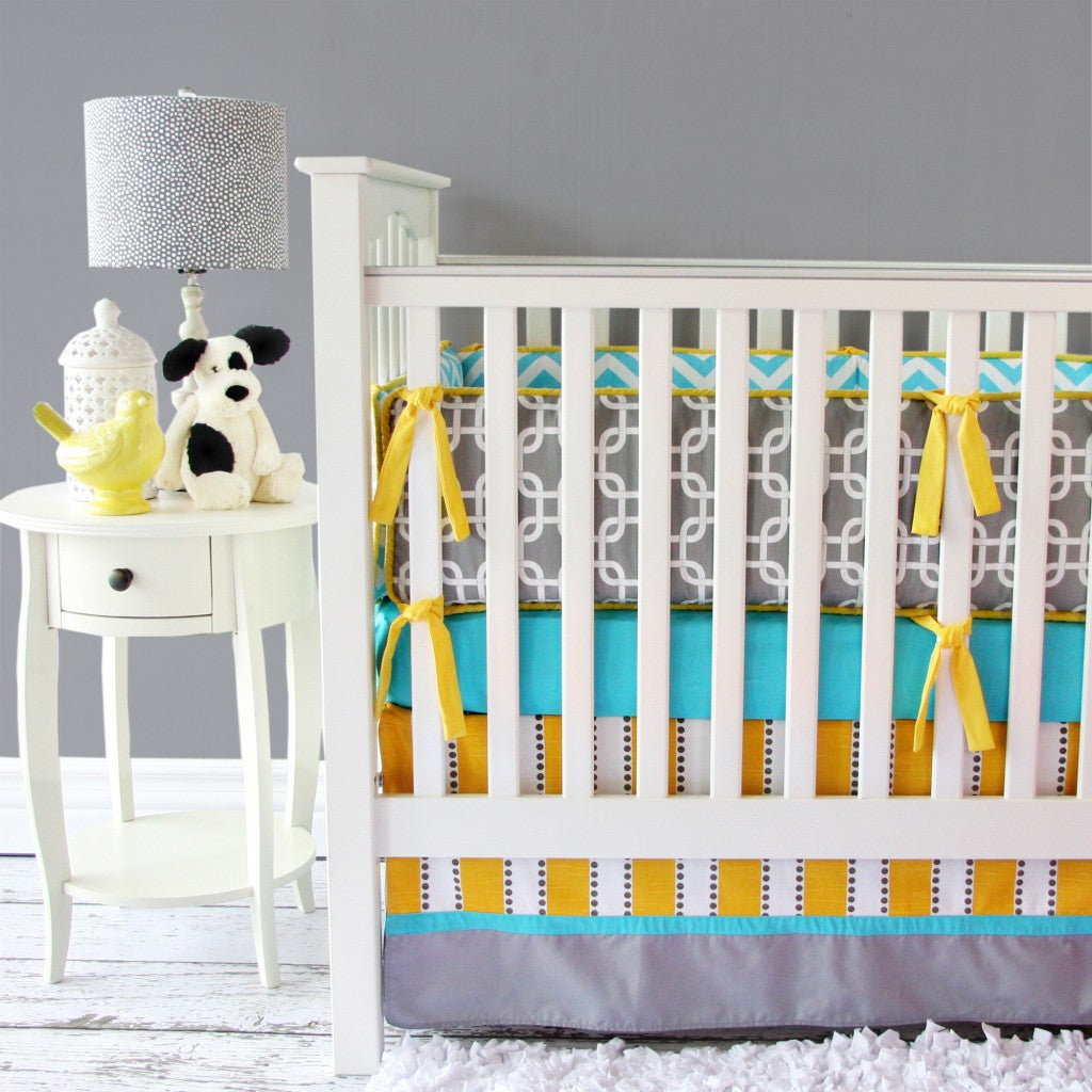 Gray Neutral Crib Bedding