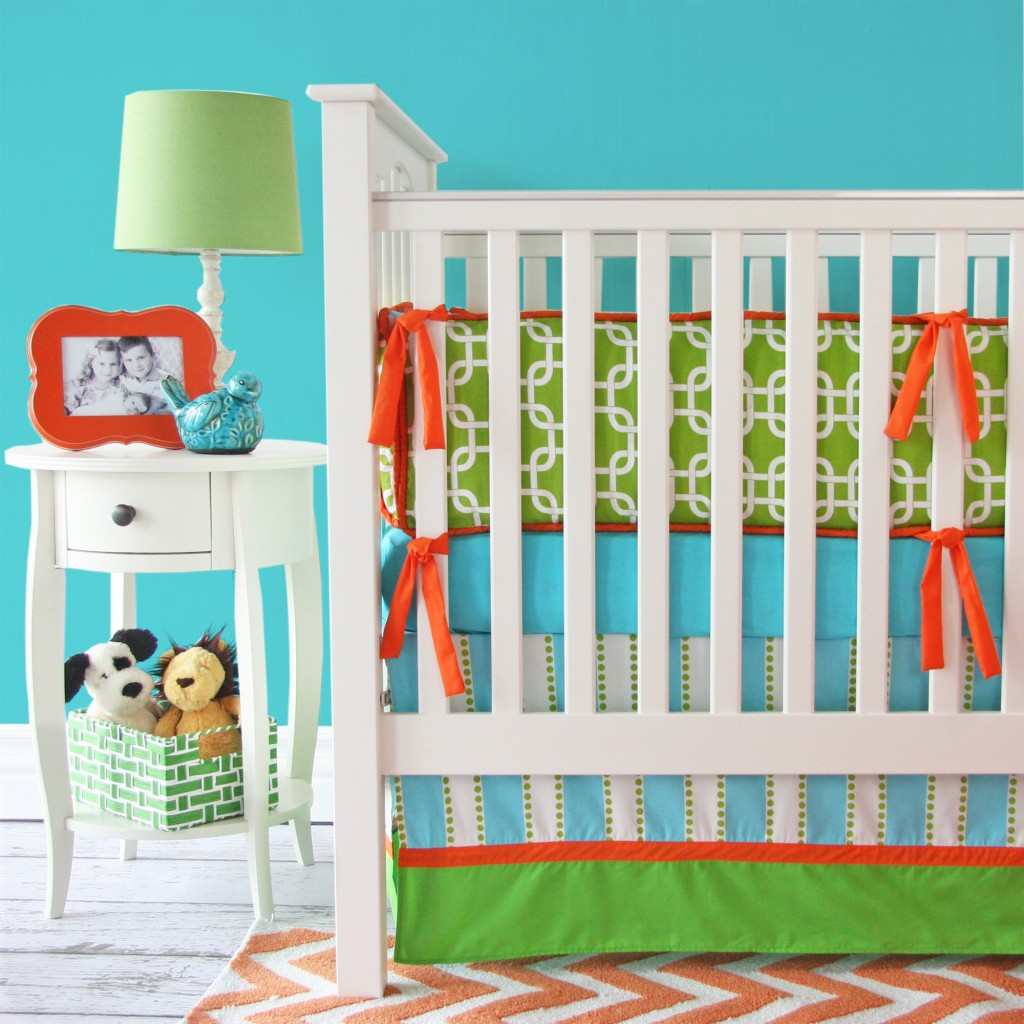 Bright Baby Green Baby Bedding
