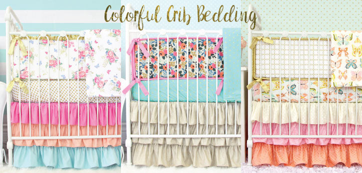 Colorful Crib Bedding to Pull out Color in the Nursery