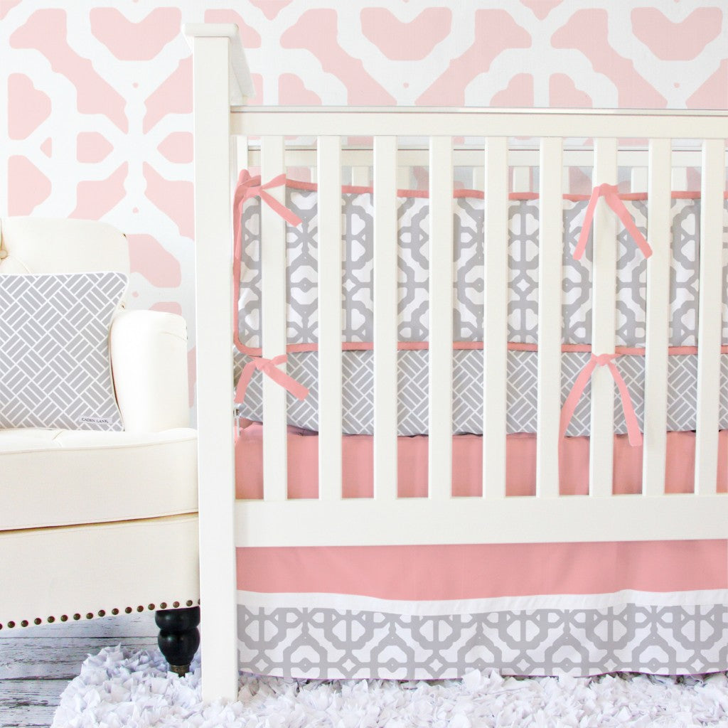modern coral baby bedding