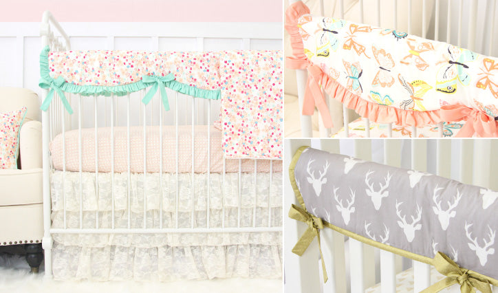 Fabric Crib Rail Covers from Caden Lane