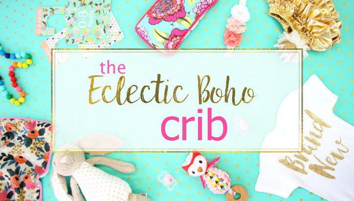 eclectic boho crib style