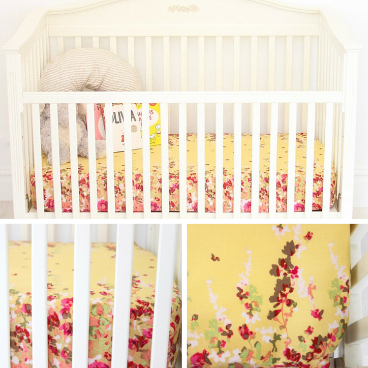 Bright Floral Crib Sheets