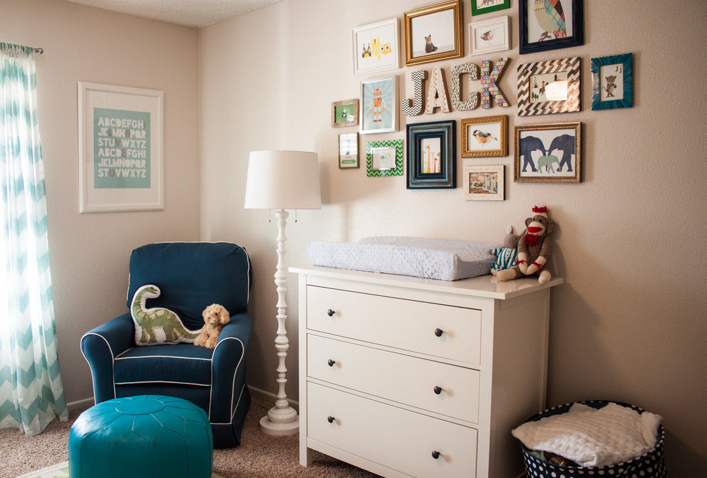 Animal nursery gallery wall inspiration