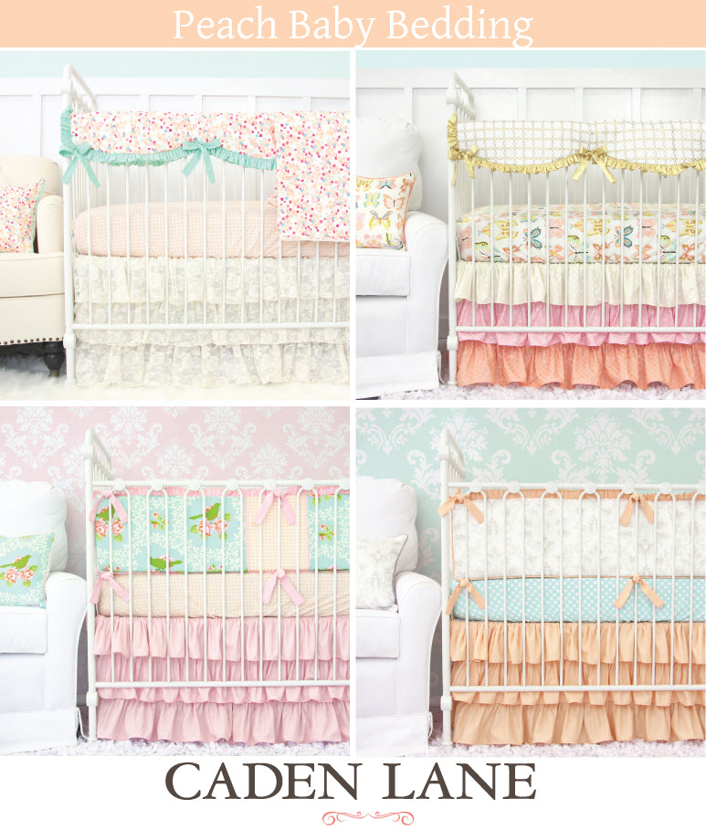 Peach baby bedding for girls