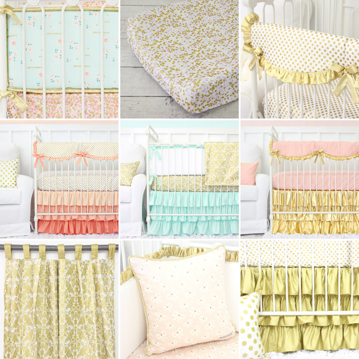 The Perfect Gold Bedding for Gold Nursery Designs