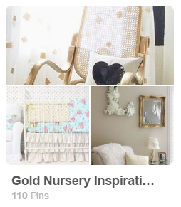 Gold Nursery Trends Inspiration Pinterest Board