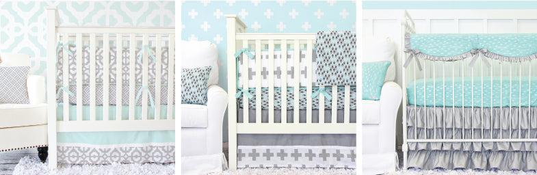 Baby Bedding that Looks Great in Front of Accent Walls from Caden Lane