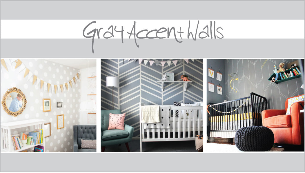 gray accent walls ideas for the nursery
