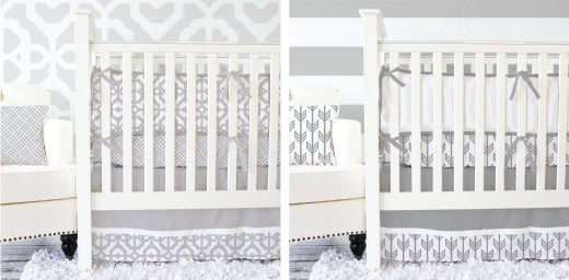 gray & white baby bedding from Caden Lane