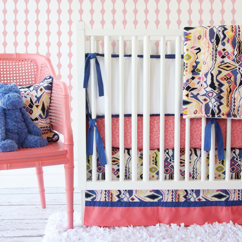 Ikat Crib Bedding