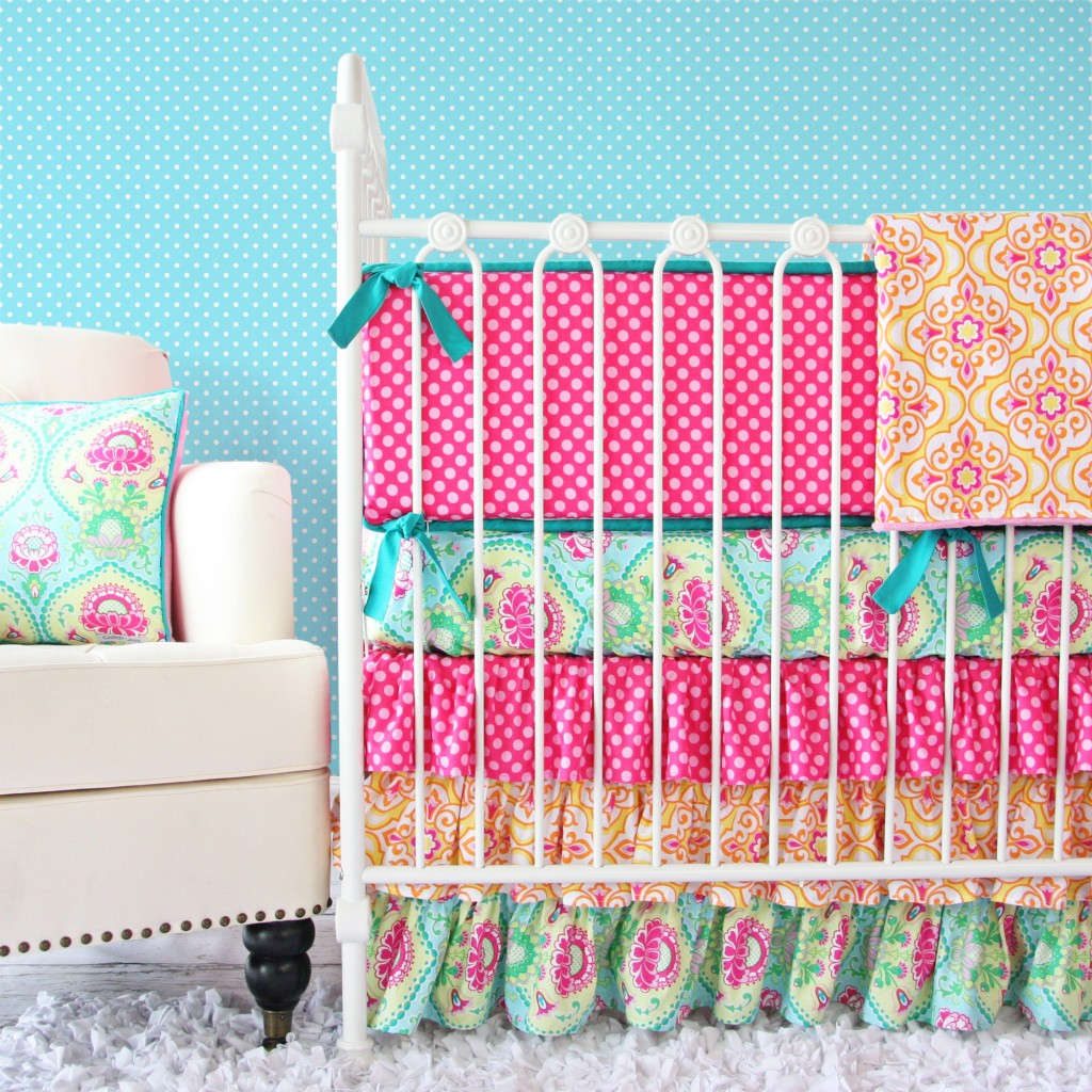 Bright Girl Baby Bedding