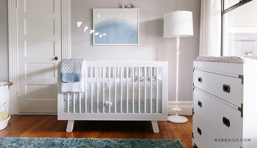 A designer-inspired, neutral sophisticated nursery
