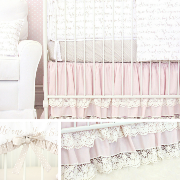 Elegant Pink Nursery Bedding