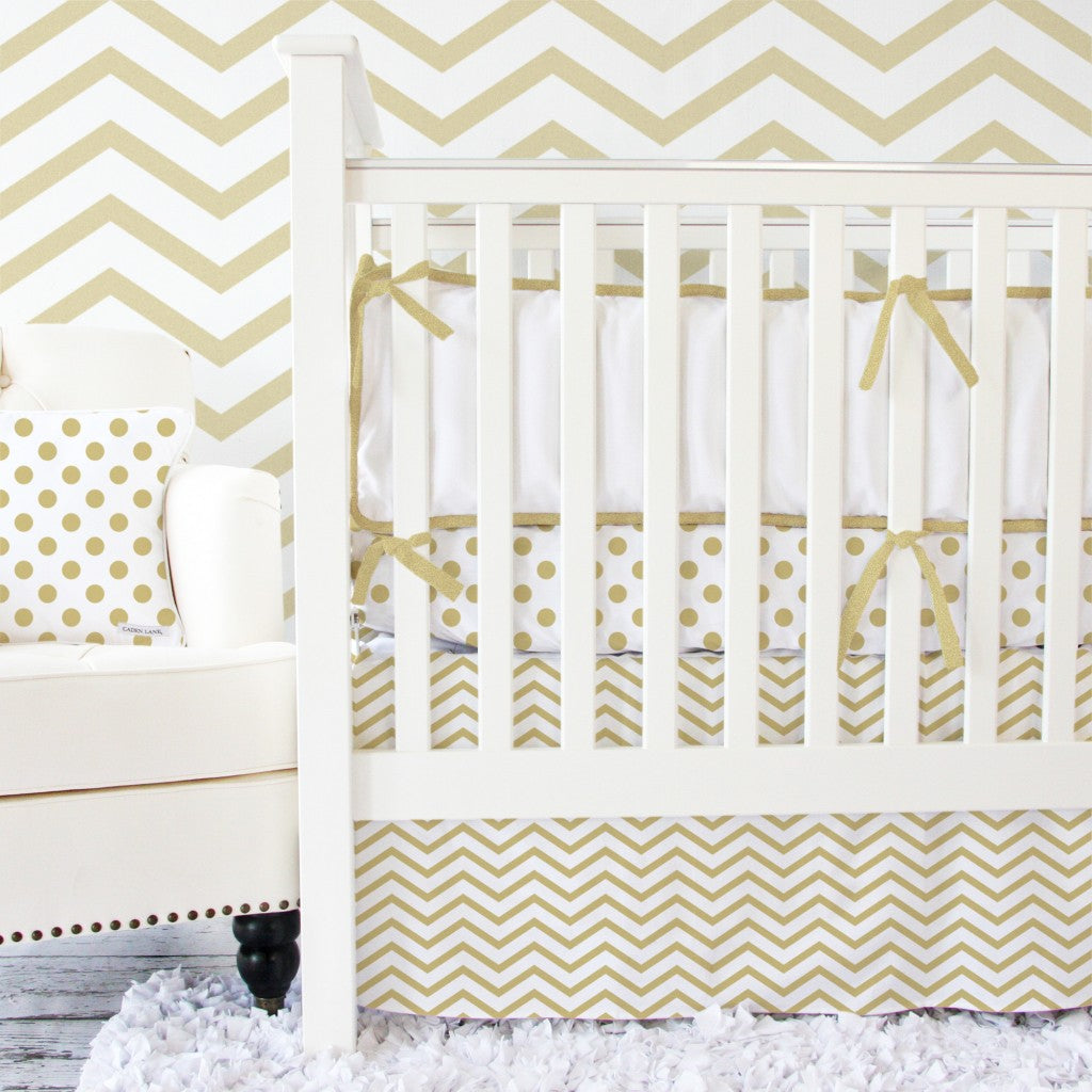 gold baby bedding