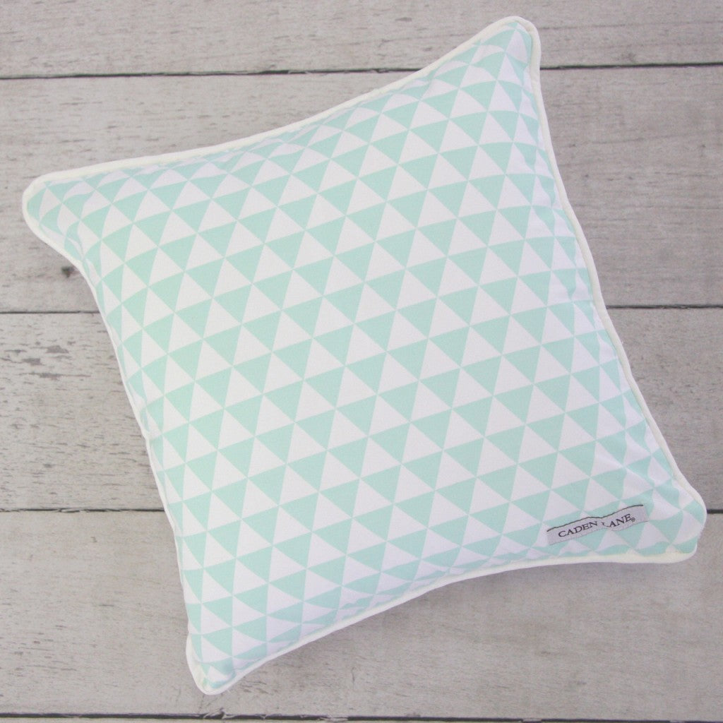 Mint Triangle Pillow