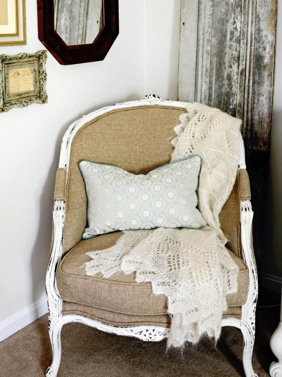 Unique nursery finds: vintage chair