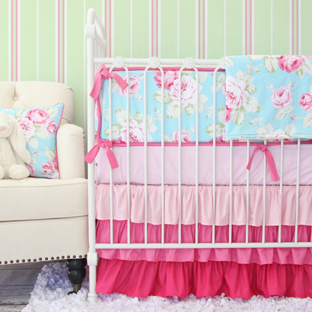 Pink Penelope Floral Baby Bedding