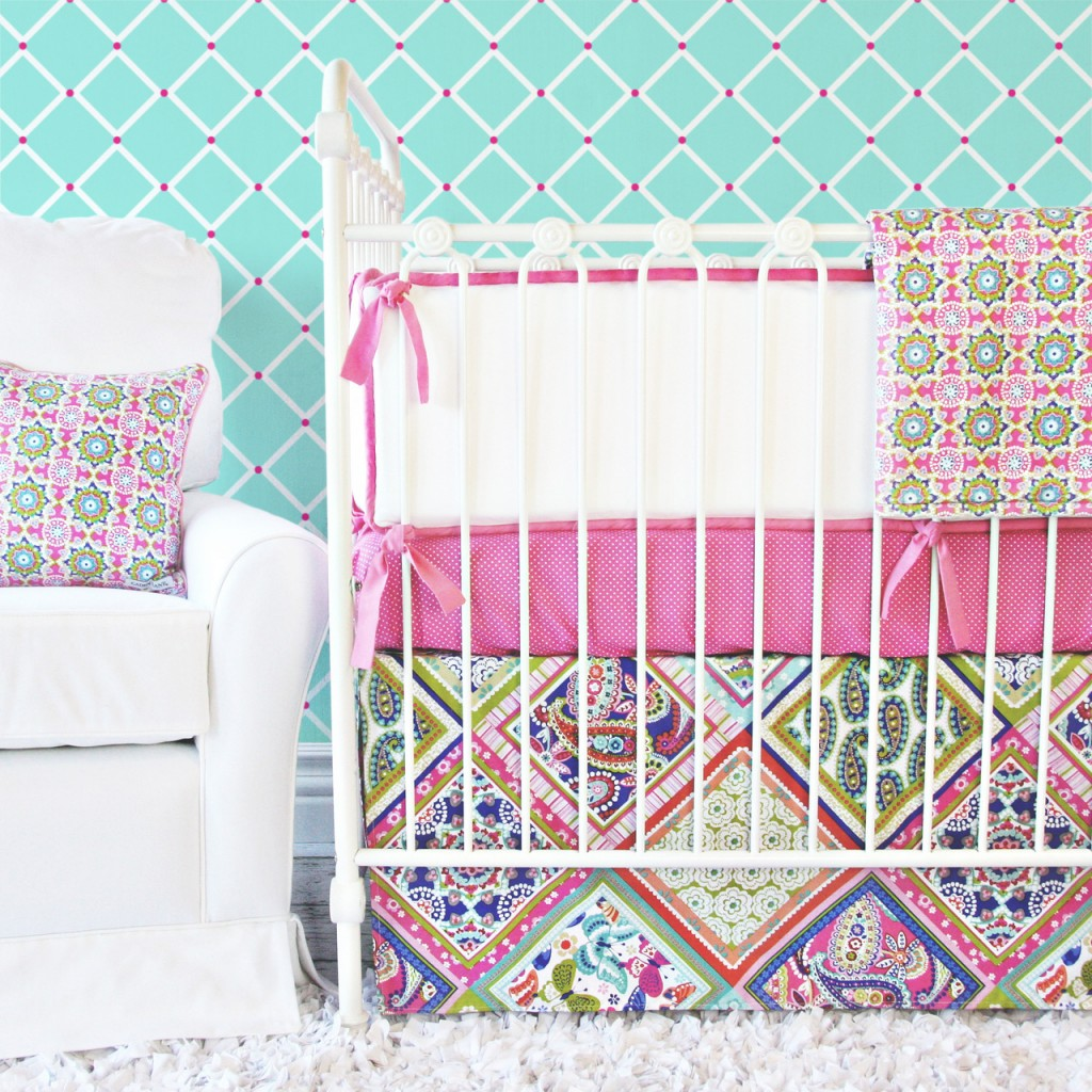 Paisley Girl Baby Bedding