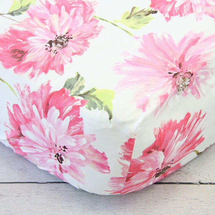 Flower Perfection in Pink Crib Sheets