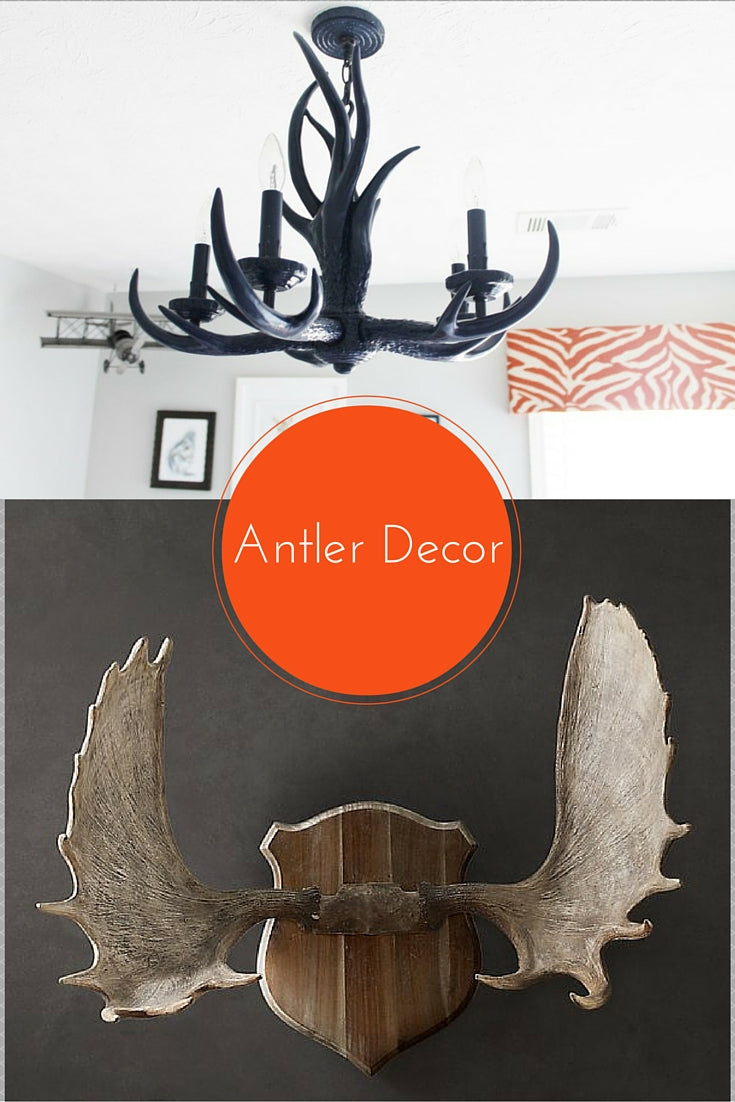 fall and winter nursery color schemes with antler chandelier