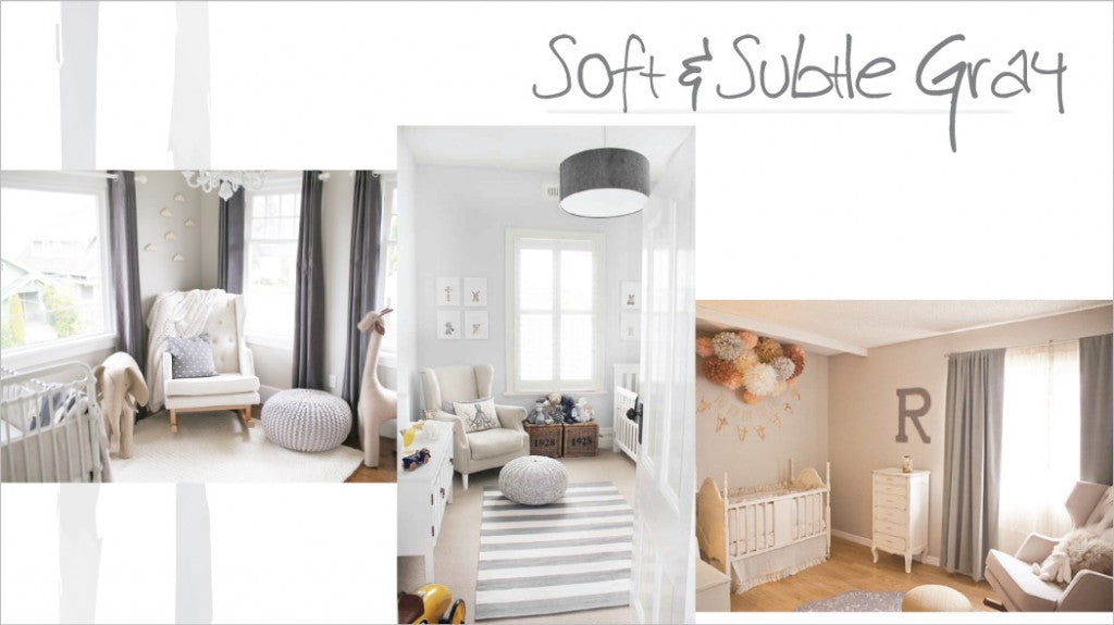 soft & subtle gray nursery inspiration
