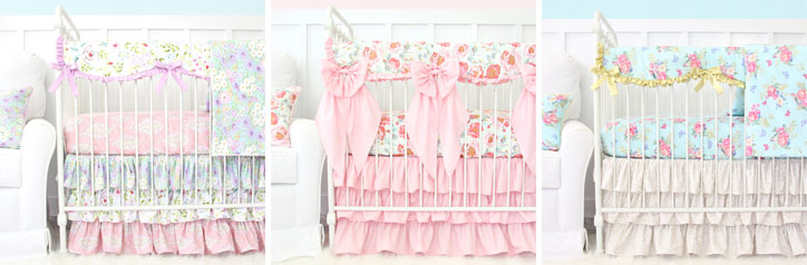 Sweet Floral Crib Style Baby Bedding Picks
