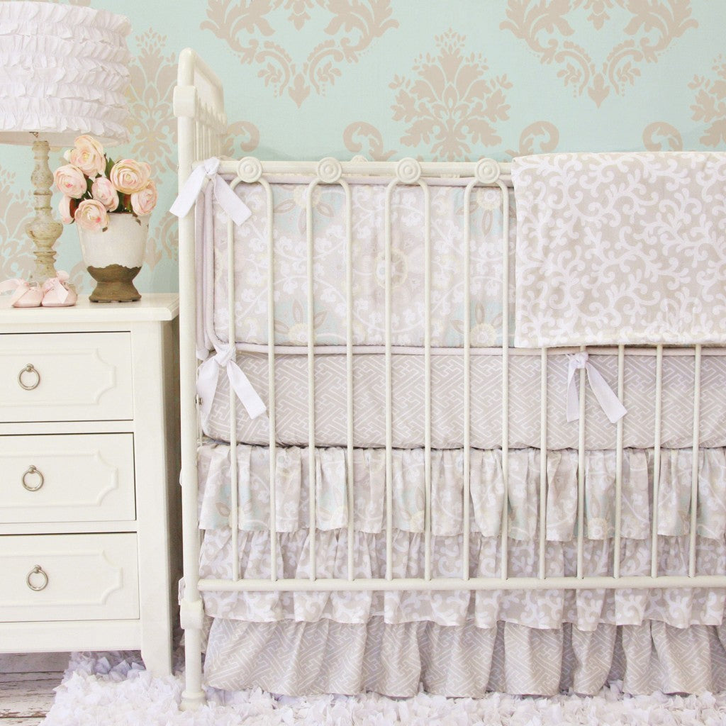 Vintage Taupe baby bedding