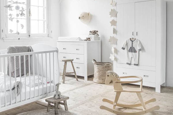 All White Gender Neutral Nursery Colors