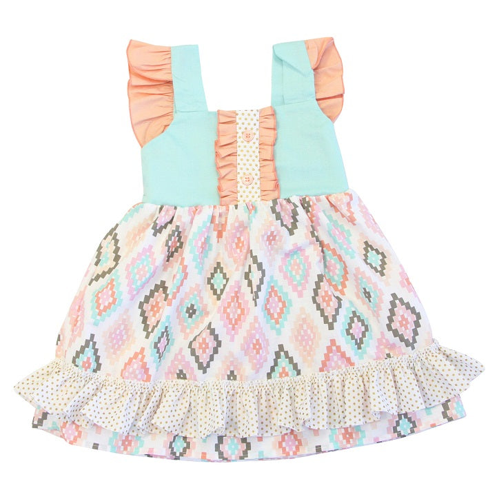 Aztec print spring outfit idea for a little girl