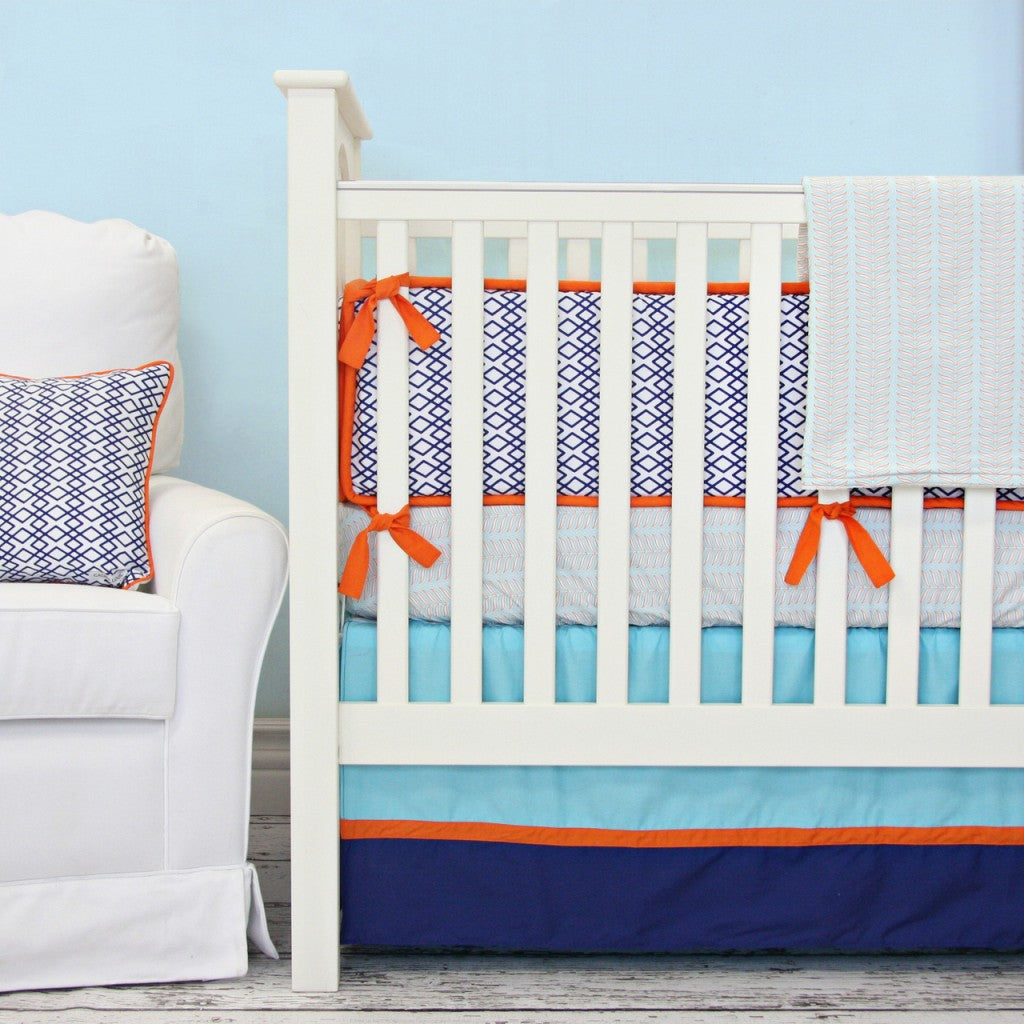 aqua baby boy crib set