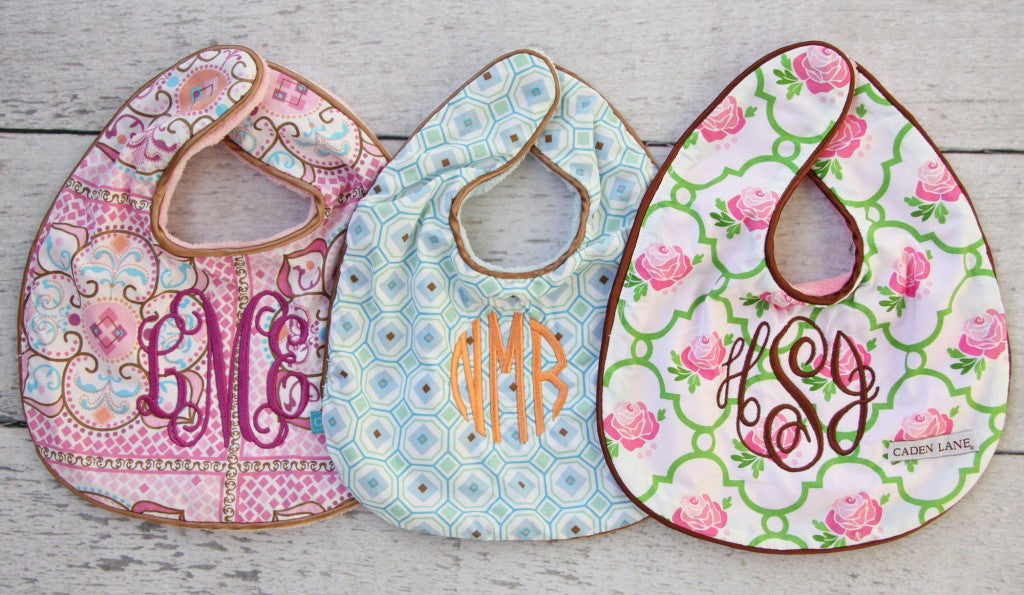 Monogrammed baby gifts for a new baby caden lane bib group monogram negle Gallery