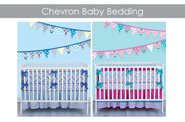 modern chevron baby bedding