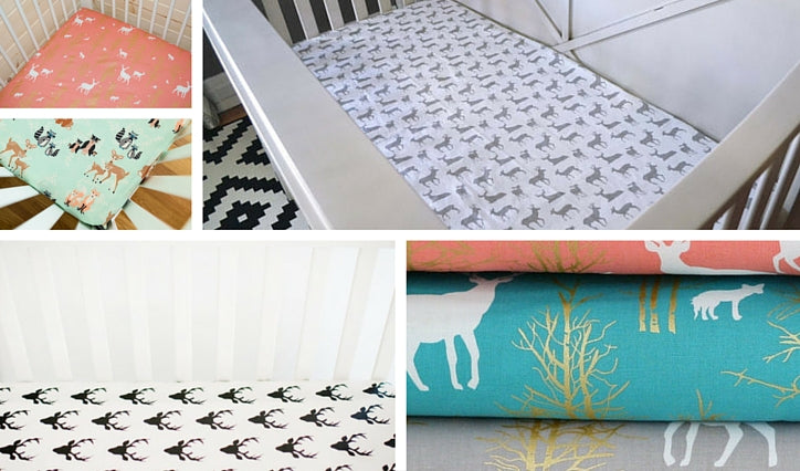 deer crib sheets from Etsy