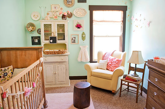 heirlooms and hand-me-downs in the nursery as wall art
